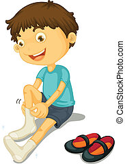 Boy and shoes