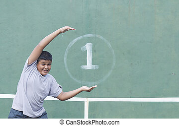 Boy and Tennis wall