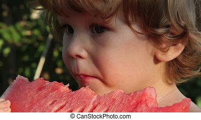 Boy and Watermelon