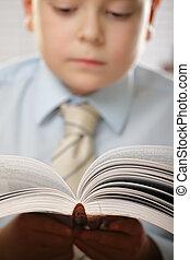 Boy at reading
