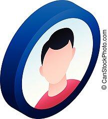 Boy avatar icon, isometric style