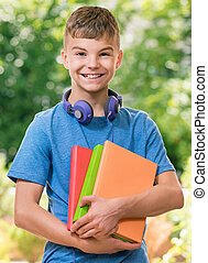 Boy back to school
