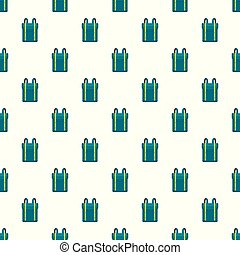 Boy backpack pattern seamless vector