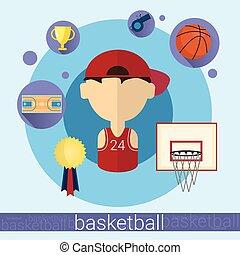 Boy Basketball Player Icon