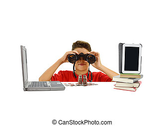 Boy Binoculars Technology Books