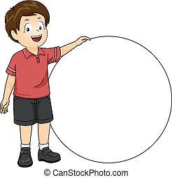 Boy Blank Circle