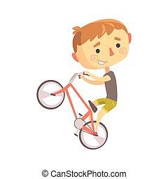 Boy BMX Bike Rider, Kids Future Dream Professional Occupation Illustration .