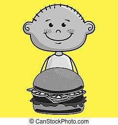 boy burger food