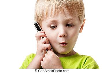 Boy calling phone
