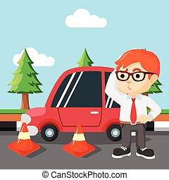 boy car break down