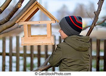 boy care of birds