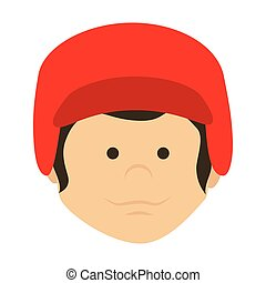 boy cartoon baseball bat isolated