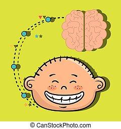 boy cartoon brain idea