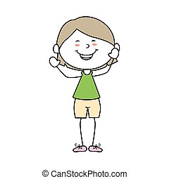 boy cartoon happy isolated design