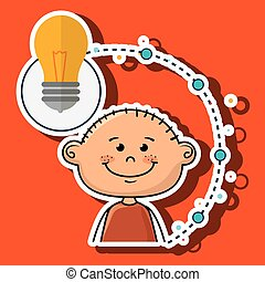 boy cartoon idea icon