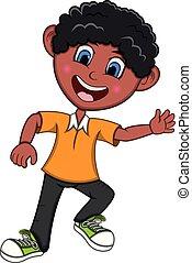 Boy Cartoon with Dancing pose