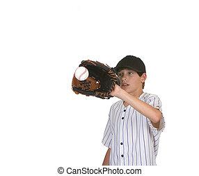 boy catching baseball3 - boy catching baseball shot against...