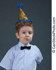 boy celebrating the birthday