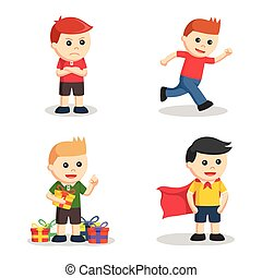 boy character set illustration design