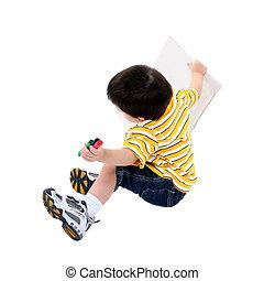 Boy Child Crayons