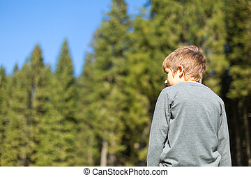Boy child in nature