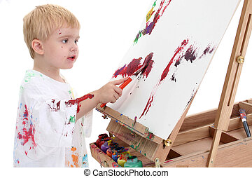 Boy Child Painting