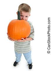 Boy Child Pumpkin