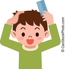 Illustration Of A Comb On A White Background Clip Art