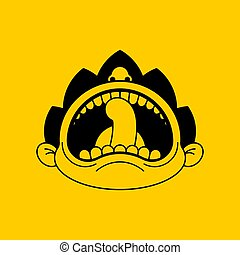 Boy crying open mouth. Child tantrum vector illustration ?