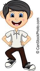 Boy Dancing cartoon