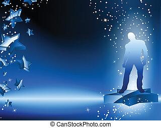 Boy Dancing on Star Blue Flyer
