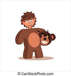 Boy Desguised As Bear