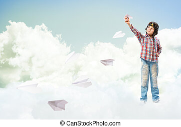 boy dreams of becoming a pilot