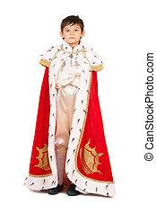 Boy dressed in a robe