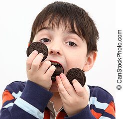 Boy Eating Cookies