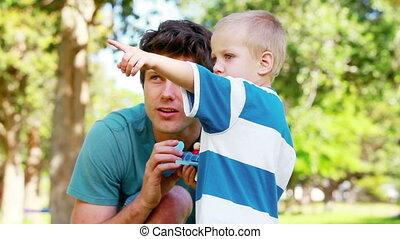 Boy explaining how he broke his toy
