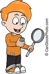 Boy explorer cartoon illustration