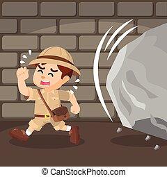 boy explorer dodged cobblestone