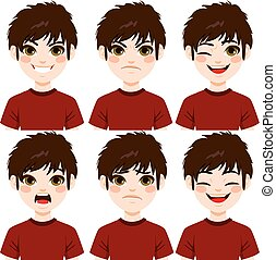 Boy Face Expressions