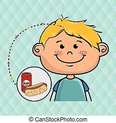 boy fast food