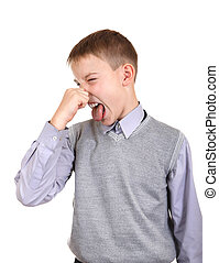 Boy feels a Stink
