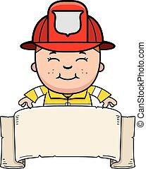 Boy Firefighter Banner