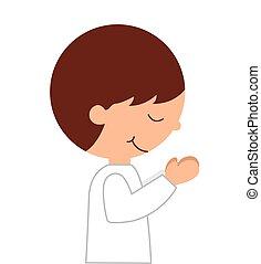 boy first communion icon