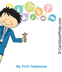 Boy first Communion