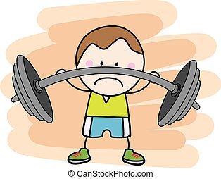 Boy fitness