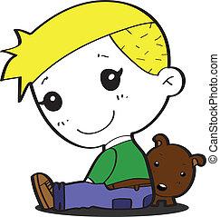Boy, Funny cartoon