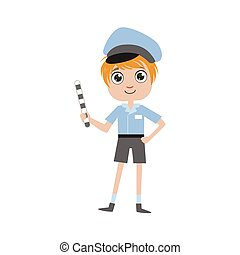 Boy Future Policeman