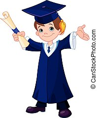 Boy Graduates  - Illustration of cute boy graduates