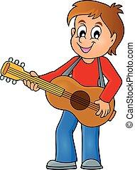 Boy guitar player theme