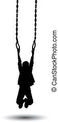 Boy hanging on rings